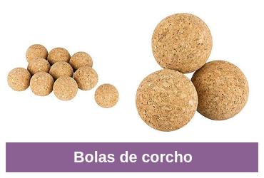 comparativa de bolas de corcho