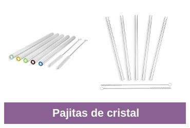comparativa de pajitas de cristal