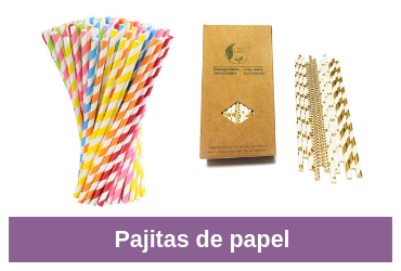 comparativa de pajitas de papel