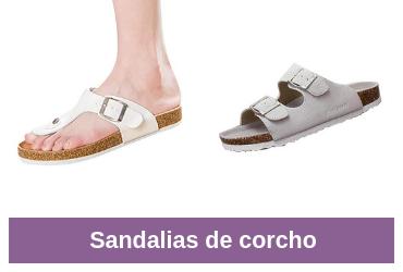comparativa de sandalias de corcho