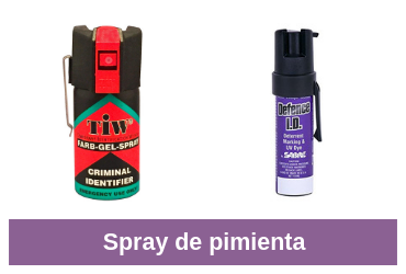 comparativa de spray de pimienta