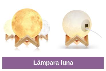 comparativa de lámpara luna
