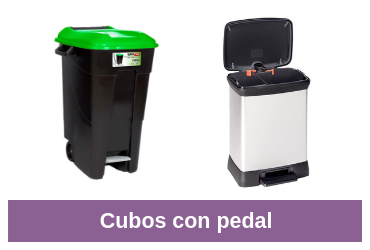 cubos con pedal