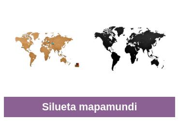 silueta mapa mundi